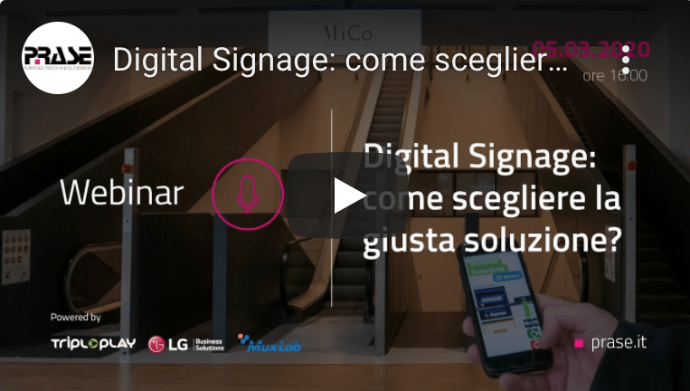 Soluzioni Digital Signage