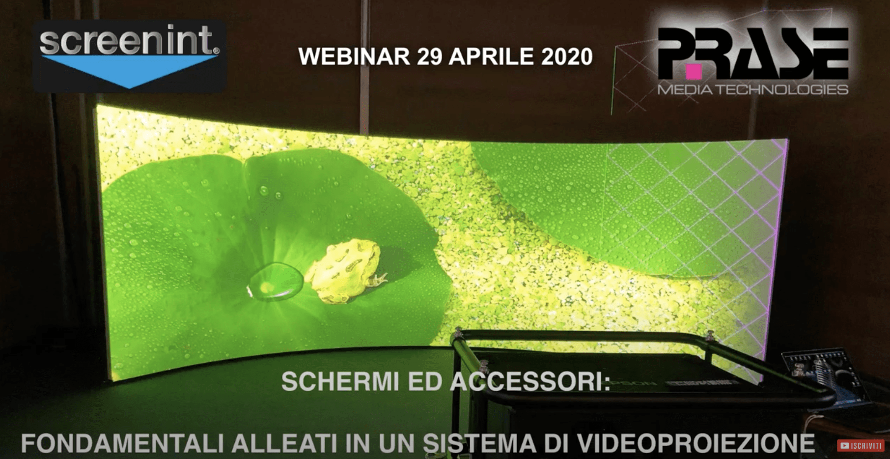 Screenint Webinar Schermi Professionali