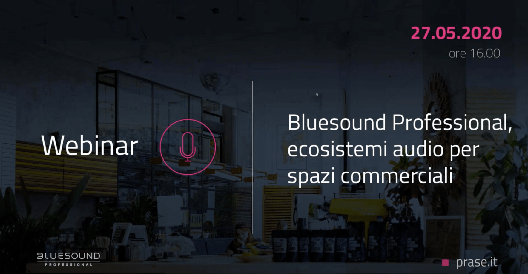 Webinar Bluesound Professional in Italiano