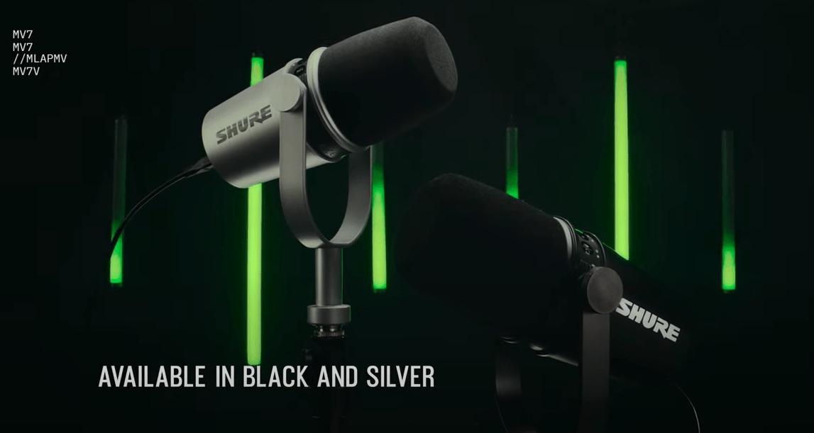 MV7 Shure Microfono Professionale / USB – XLR